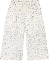 Tibi Shibori printed cotton and silk-blend shorts