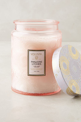 Voluspa Limited Edition Cut Glass Jar Candle By in Pink