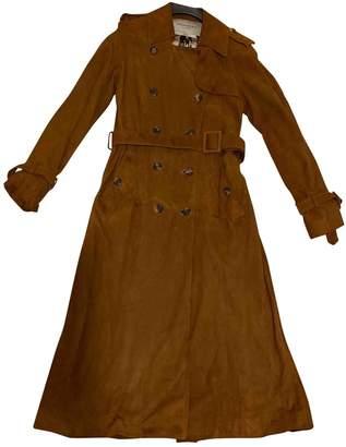 Saint Laurent Brown Suede Trench coats