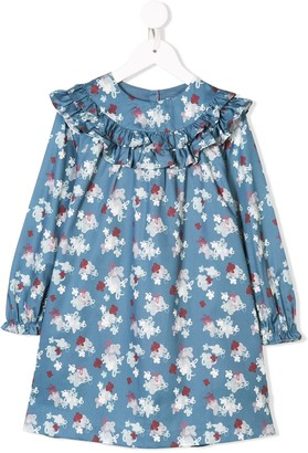 Knot My blueberry flowers dress