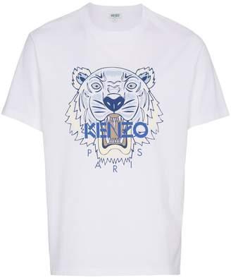 Kenzo tiger head print short sleeve t-shirt