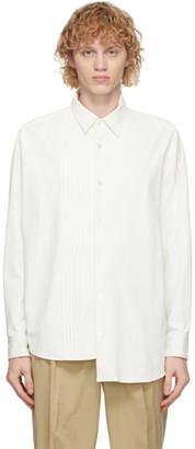 N.Hoolywood White Asymmetric Shirt