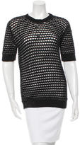Derek Lam Short Sleeve Textured Sweater