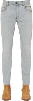 Balmain 15cm Slim Stretch Cotton Denim Jeans