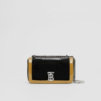 Burberry Mini Tape Detail Sequinned Lambskin Lola Bag
