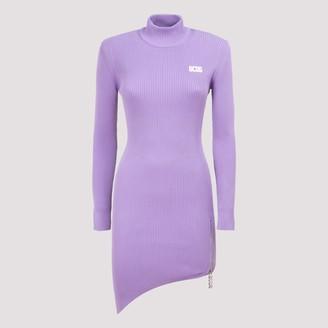 GCDS Asymmetrical Ribbed Dress