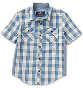 Buffalo David Bitton Big Boys 8-20 Sanders Plaid Short-Sleeve Shirt