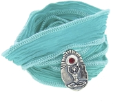 Catherine Michiels Soul Woman Charm & Silk Bracelet Wrap