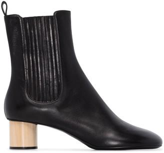 Jil Sander black 45 Chelsea leather ankle boots