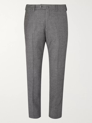Loro Piana Grey Slim-Fit Puppytooth Virgin Wool and Cashmere-Blend Trousers - Men - Gray
