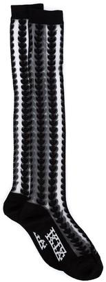 Kokon To Zai Leaf Intarsia Knee High Socks