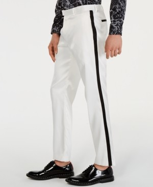 INC International Concepts Inc Men's Slim-Fit Tuxedo Pants, Created for Macy's
