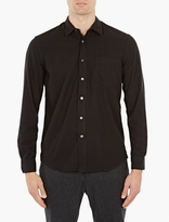 Our Legacy Black Raw Silk Shirt