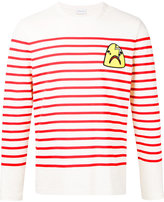 Moncler striped top with shark patch - men - Cotton - S