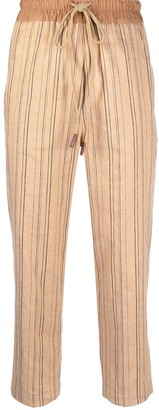 Alysi Straight-Leg Striped Trousers