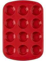 Wilton Ultra-FlexTM Nonstick 12-Cup Silicone Mini Muffin Pan in Red