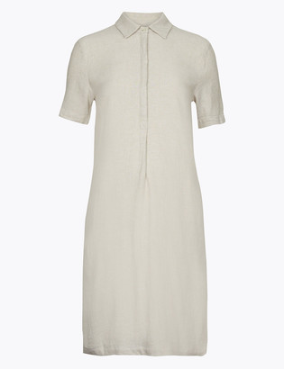 Marks and Spencer Linen Knee Length Shift Dress