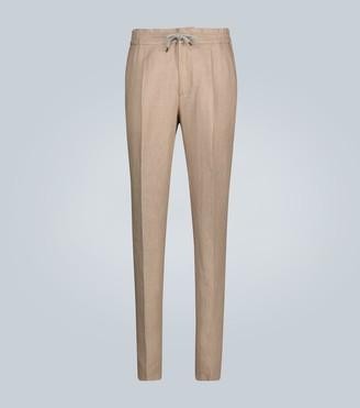 Brunello Cucinelli Relaxed-fit linen pants