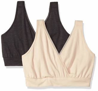 Playtex Women's Nursing Pullover Sleep Bra 2-Pack