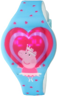 Peppa Pig Girl's Quartz Rubber and Silicone Watch Color:Blue (Model: PPG4018)