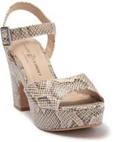 Chinese Laundry Bianca Snakeskin Embossed Platform Sandal