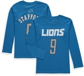 Outerstuff Youth Matthew Stafford Blue Detroit Lions Mainliner Name & Number Long Sleeve T-Shirt