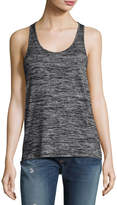Rag & Bone Twist-Back Scoop-Neck Tank, Black Heather
