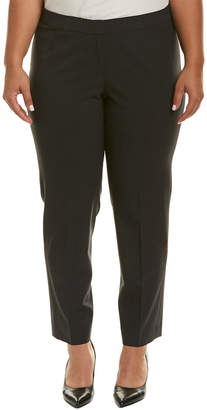 Lafayette 148 New York Plus Pleated Wool-Blend Pant