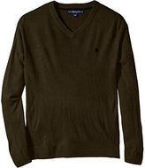U.S. Polo Assn. Men's Big/Tall Solid V-Neck Sweater