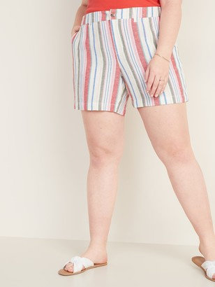 Old Navy Mid-Rise Plus-Size Printed Everyday Shorts - 7-inch inseam