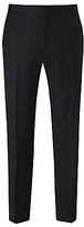 Richard James Mayfair Hopsack Wool Dress Suit Trousers, Black