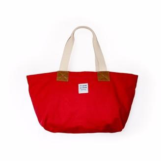 Risdon & Risdon Factory Red Canvas & Leather Bag