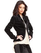 Rachel Roy Jacket, Long-Sleeve Velour Tuxedo Blazer