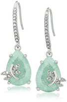 "Betsey Johnson Spring Critters"" Cubic Zirconia and Dragonfly Drop Earrings"
