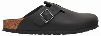 Birkenstock Boston Sandal In Black Leather