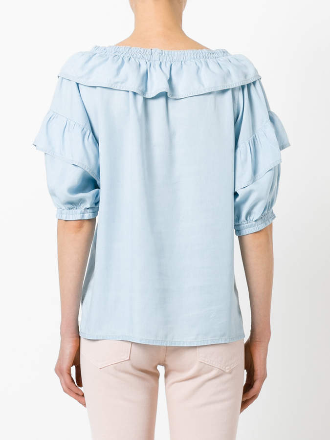 Sonia Rykiel ruffled trim top