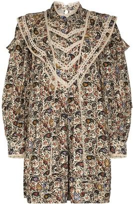 Etoile Isabel Marant Rebel Floral Print Mini Dress
