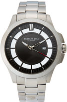 Kenneth Cole 10027446 Silver-Tone & Black Watch