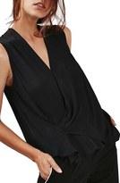 Topshop Women's Asymmetrical Drape Blouse