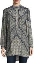 Tolani Natasha Long-Sleeve Geometric-Print Tunic