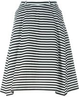 Peter Jensen striped A-line skirt