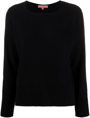Ermanno Scervino Round Neck Ribbed Sweater
