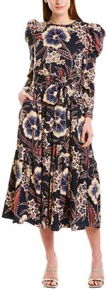 Beulah Belted Midi Dress