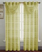 "Victoria Classics Window Treatments, Brice Sheer Waterfall 27"" x 27"" Valance"