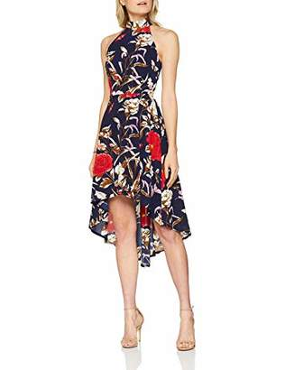 Yumi Women's Botanical Print High Low Dress,8