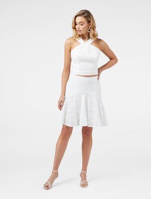 Ever New Emma Embroidered Fit and Flare Co-Ord Skirt