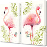 Flamingos Stupell Tropical Palm Watercolor Paintings 2Pc Set
