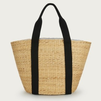 The White Company Woven Straw Tote Bag, Natural, One Size