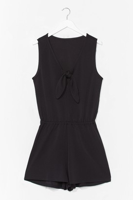 Nasty Gal Womens Can't Tie My Love Relaxed Playsuit - Black - S