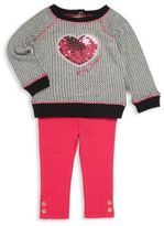 Juicy Couture Little Girl's Ribbed Pullover & Solid Leggings Set